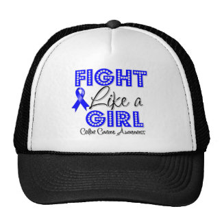 Fight Like a Girl Dazzling - Colon Cancer Trucker Hat