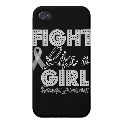 Fight Like a Girl Dazzling - Diabetes Cover For iPhone 4