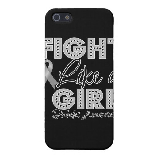 Fight Like a Girl Dazzling - Diabetes Cover For iPhone 5