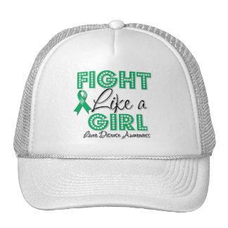 Fight Like a Girl Dazzling - Liver Disease Trucker Hats