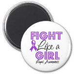 Fight Like a Girl Dazzling - Lupus Fridge Magnet