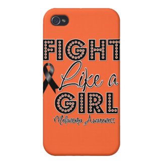 Fight Like a Girl Dazzling - Melanoma Covers For iPhone 4