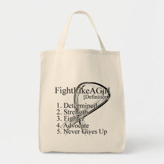 Fight Like a Girl Definition - Lung Cancer Tote Bag
