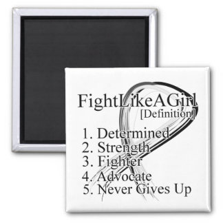 Fight Like a Girl Definition - Lung Cancer Refrigerator Magnets
