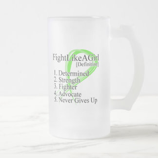 Fight Like a Girl Definition NonHodgkins Lymphoma 16 Oz Frosted Glass Beer Mug