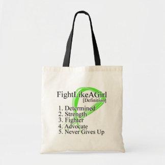 Fight Like a Girl Definition NonHodgkins Lymphoma Budget Tote Bag