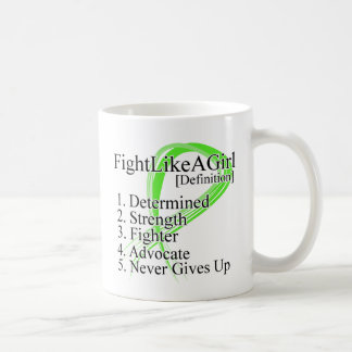 Fight Like a Girl Definition NonHodgkins Lymphoma Classic White Coffee Mug