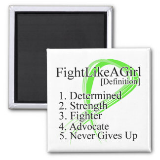 Fight Like a Girl Definition NonHodgkins Lymphoma 2 Inch Square Magnet