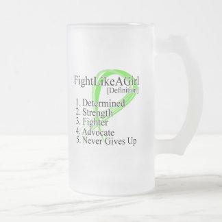 Fight Like a Girl Definition NonHodgkins Lymphoma Mug
