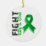Fight Like A Girl Depression 28.8 Christmas Tree Ornaments