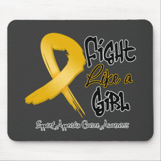 Fight Like a Girl - Distressed - Appendix Cancer Mouse Pad