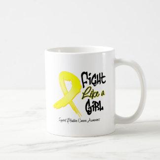 Fight Like a Girl - Distressed - Bladder Cancer Mug