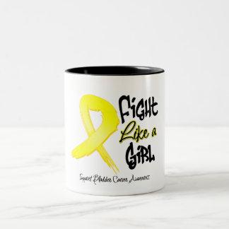 Fight Like a Girl - Distressed - Bladder Cancer Coffee Mug