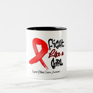 Fight Like a Girl - Distressed - Blood Cancer Mug