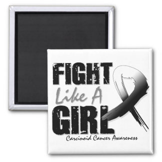 Fight Like A Girl Distressed Carcinoid Cancer Magnet