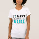 Fight Like a Girl Distressed - Cervical Cancer T-shirts