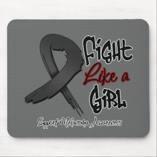 Fight Like a Girl - Distressed - Melanoma Mouse Pad