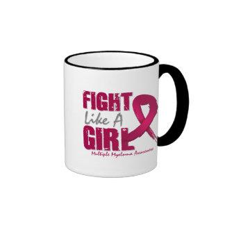 Fight Like A Girl Distressed Multiple Myeloma Mug