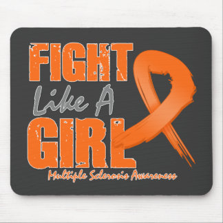Fight Like A Girl Distressed Multiple Sclerosis Mouse Pad