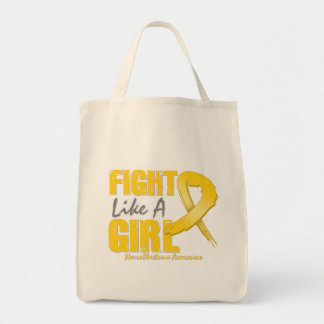 Fight Like A Girl Distressed Neuroblastoma Grocery Tote Bag