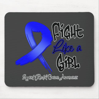 Fight Like a Girl - Distressed - Rectal Cancer Mouse Pad