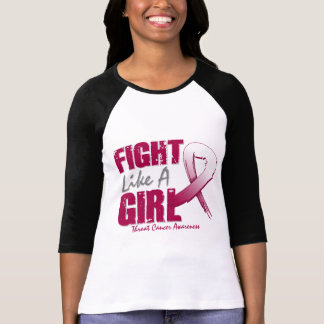 Fight Like A Girl Distressed Throat Cancer T-shirts