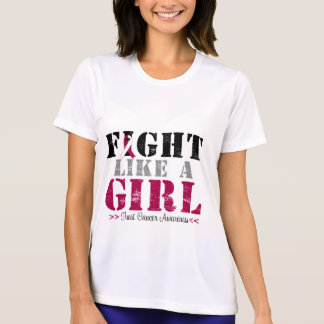 Fight Like a Girl Distressed - Throat Cancer T-shirt
