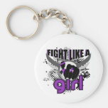 Fight Like A Girl Domestic Violence 33.8 Keychains