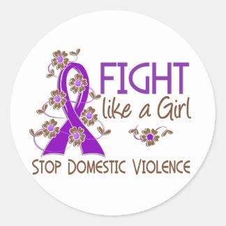Fight Like A Girl Domestic Violence 38.82 Sticker