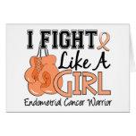 Fight Like A Girl Endometrial Cancer 15.2 Greeting Card