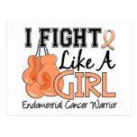 Fight Like A Girl Endometrial Cancer 15.2 Postcard