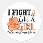 Fight Like A Girl Endometrial Cancer 15.2 Sticker