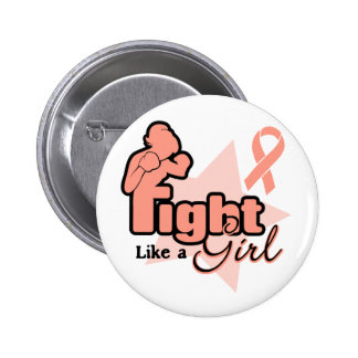 Fight Like a Girl - Endometrial Cancer Pinback Button