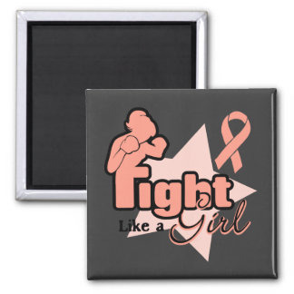 Fight Like a Girl - Endometrial Cancer Refrigerator Magnet