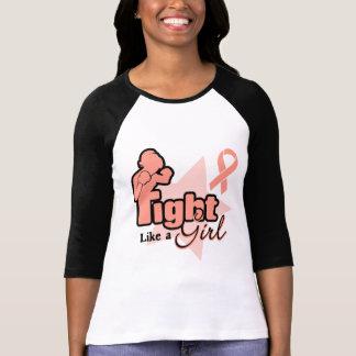 Fight Like a Girl - Endometrial Cancer Tee Shirt