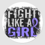 Fight Like a Girl Esophageal Cancer 31.8 Round Sticker