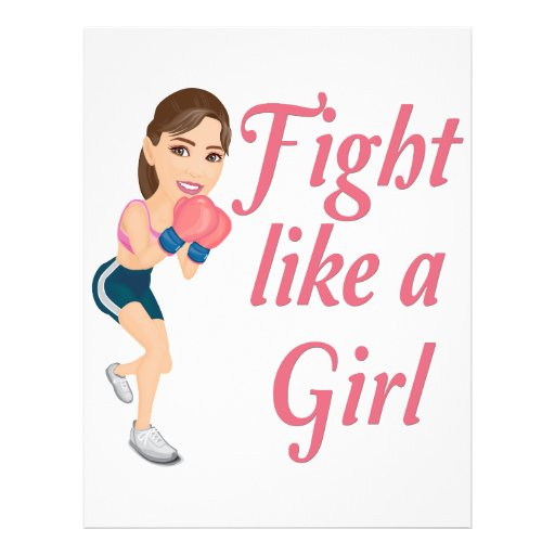 Fight Like A Girl Colouring Pages