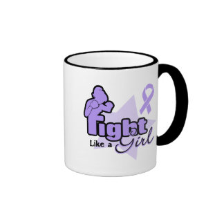 Fight Like a Girl - General Cancer Coffee Mugs
