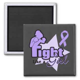 Fight Like a Girl - General Cancer Magnet