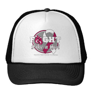 Fight Like a Girl Gloves - Head and Neck Cancer Mesh Hats