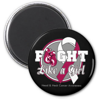 Fight Like a Girl Gloves - Head and Neck Cancer Fridge Magnets