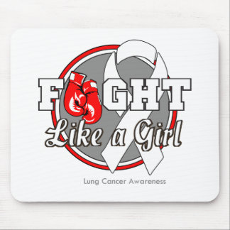 Fight Like a Girl Gloves - Lung Cancer Mouse Pad