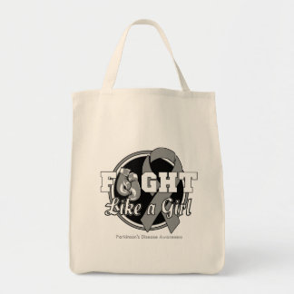 Fight Like a Girl Gloves - Parkinsons Disease Tote Bag