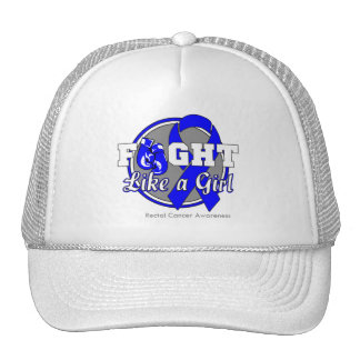 Fight Like a Girl Gloves - Rectal Cancer Trucker Hats