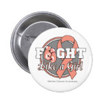 Fight Like a Girl Gloves - Uterine Cancer Pinback Buttons