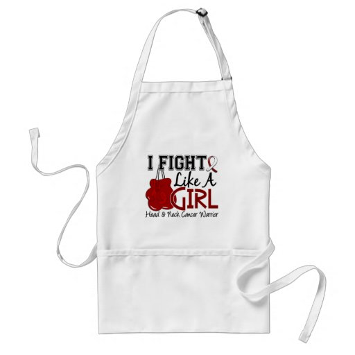Fight Like A Girl Head And Neck Cancer 15.2 Aprons