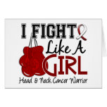 Fight Like A Girl Head And Neck Cancer 15.2 Greeting Card