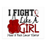 Fight Like A Girl Head And Neck Cancer 15.2 Post Cards