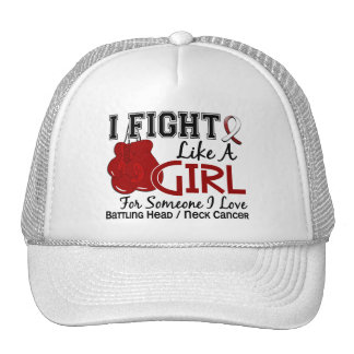 Fight Like A Girl Head And Neck Cancer 15.6 Hats