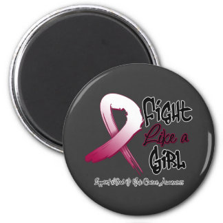 Fight Like a Girl -  Head and Neck Cancer Refrigerator Magnet